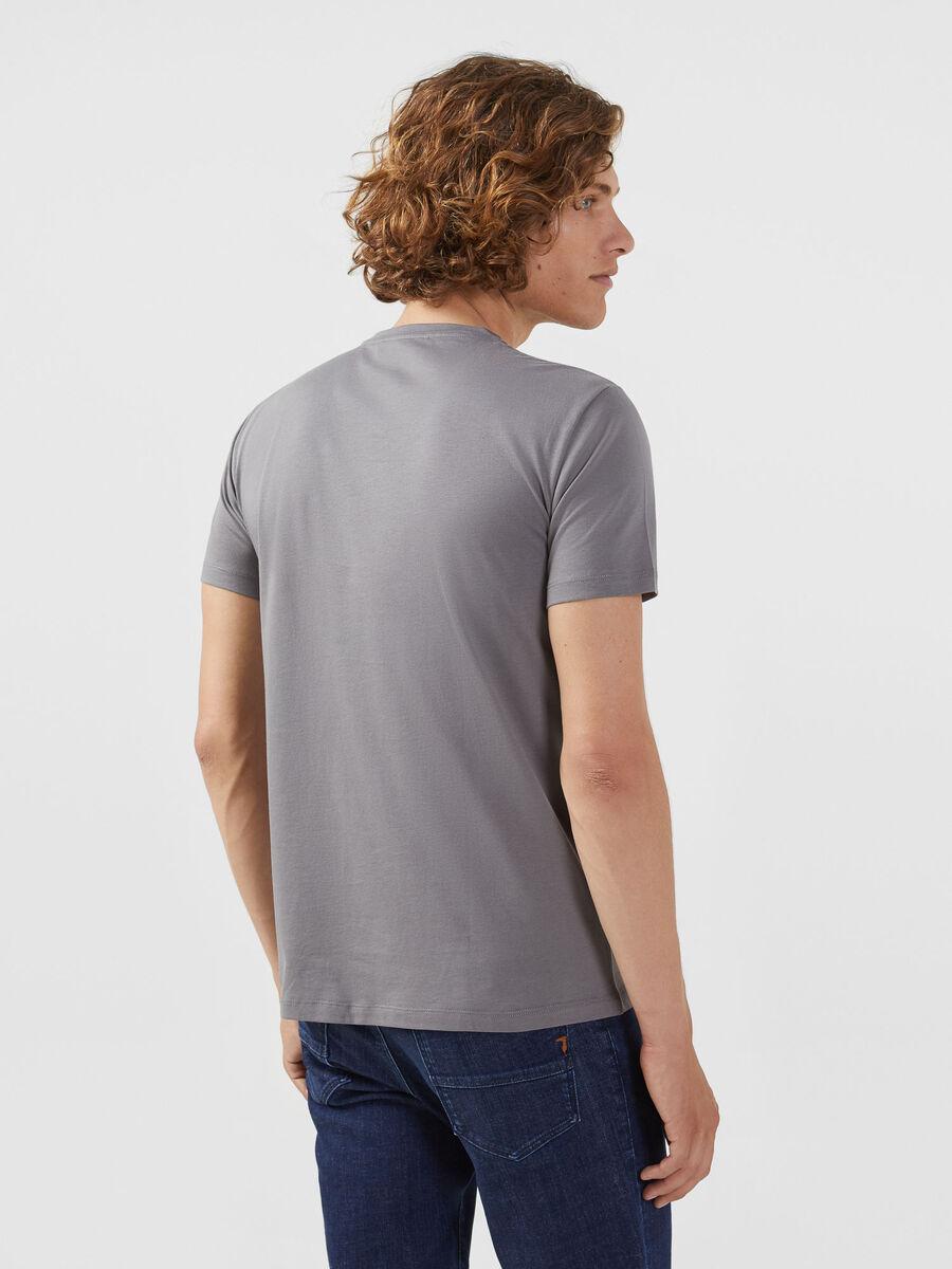 T Shirt im Regular Fit aus Baumwolle mit Levriero Print
