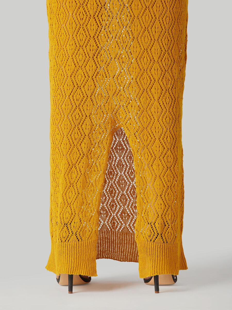Langes Kleid im Regular-Fit aus Leinen und Baumwolle