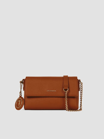 Cross-body small Mosca in similpelle saffiano