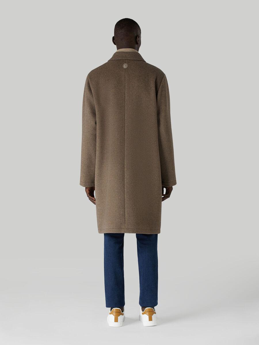 Soft wool-blend coat