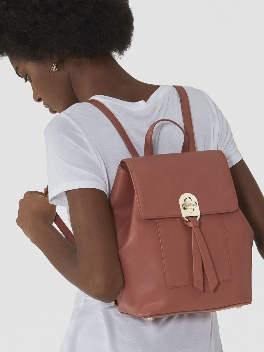Medium Mya backpack in smooth faux leather