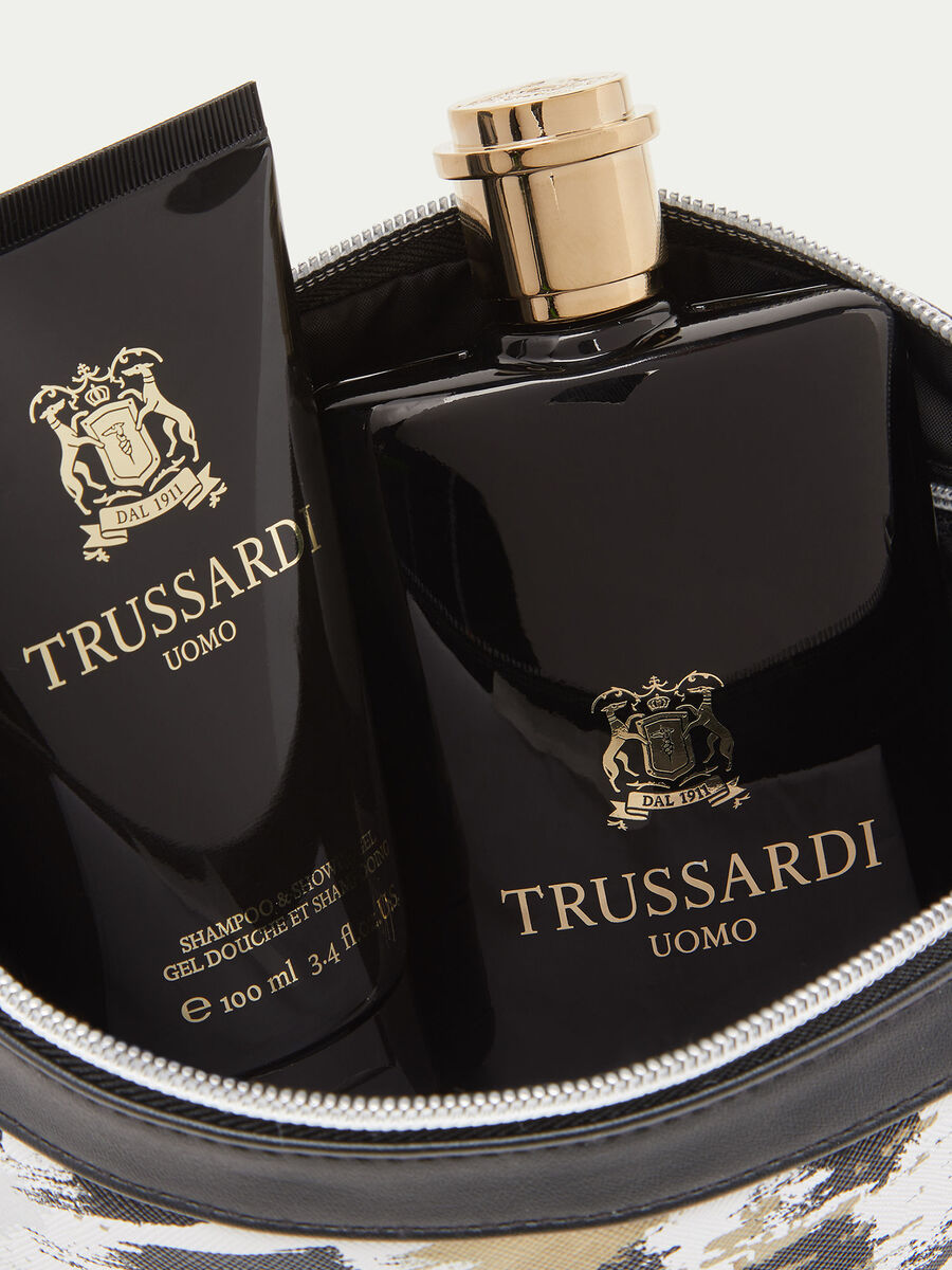 Trussardi Uomo Perfume - Shower Gel and Toiletry Bag Set