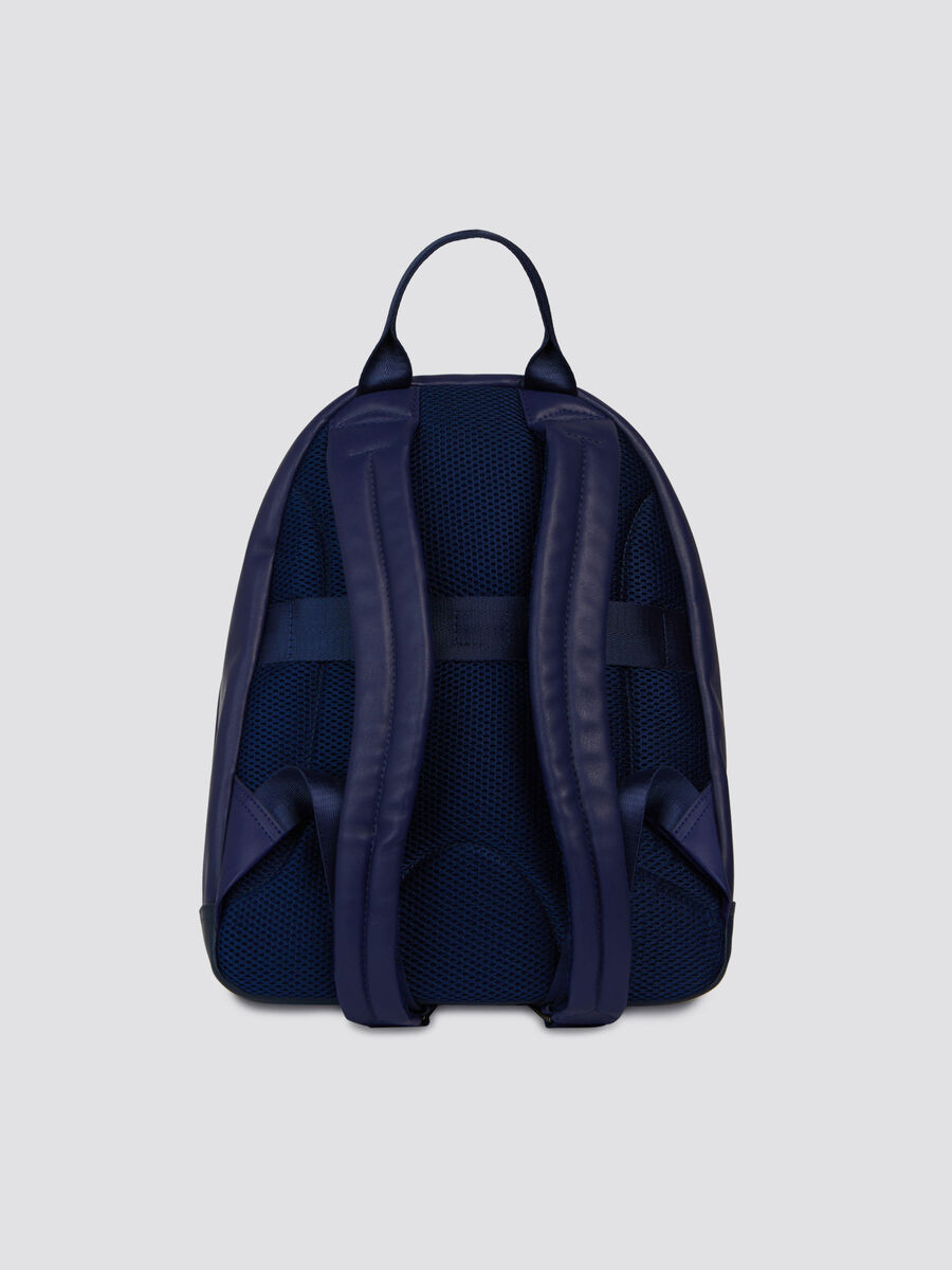Medium faux leather work backpack