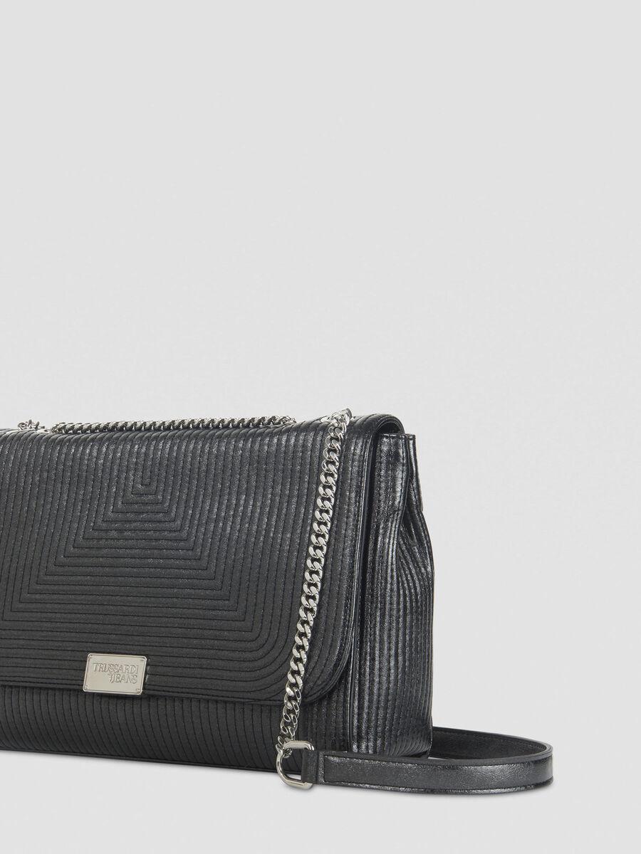 Large Frida crossbody bag in laminated faux leather