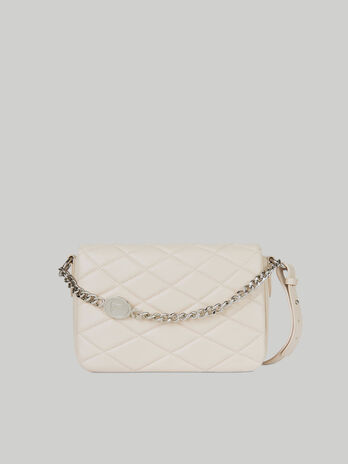 Medium Daisy crossbody bag in quilted faux leather