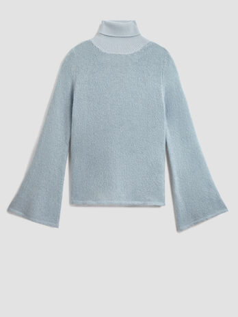 Wool and mohair polo neck pullover