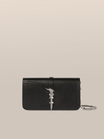 Leila clutch in calfskin nappa