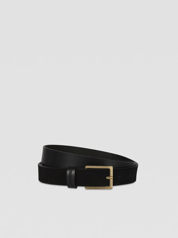 Long leather belt