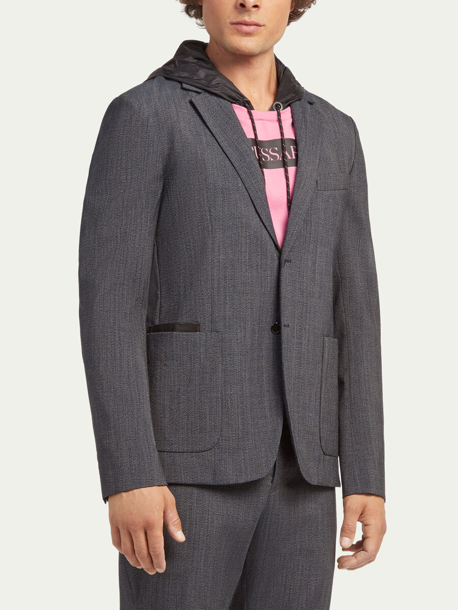 Malfile stretch melange blazer
