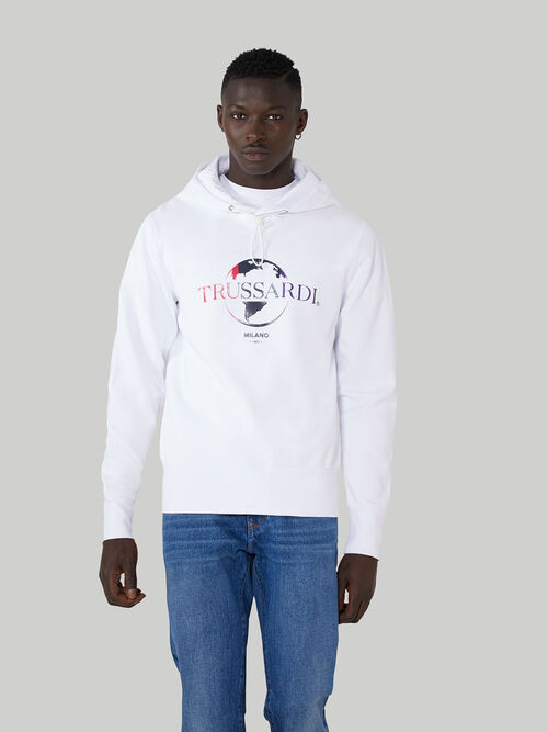 Regular-fit cotton hoody