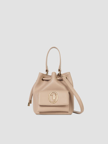 Borsa a secchiello small Belgrado in similpelle