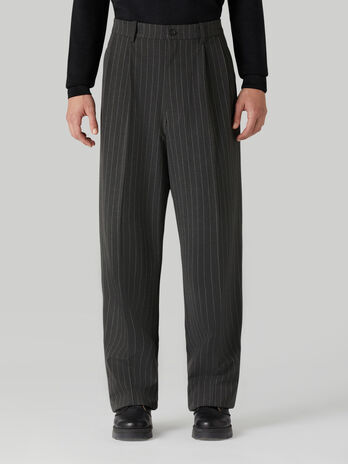 Pinstripe fabric trousers