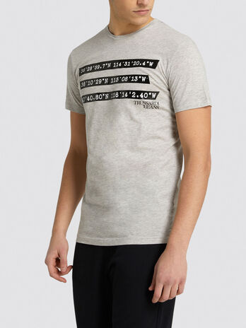 Regular fit jersey T shirt with contrasting bands