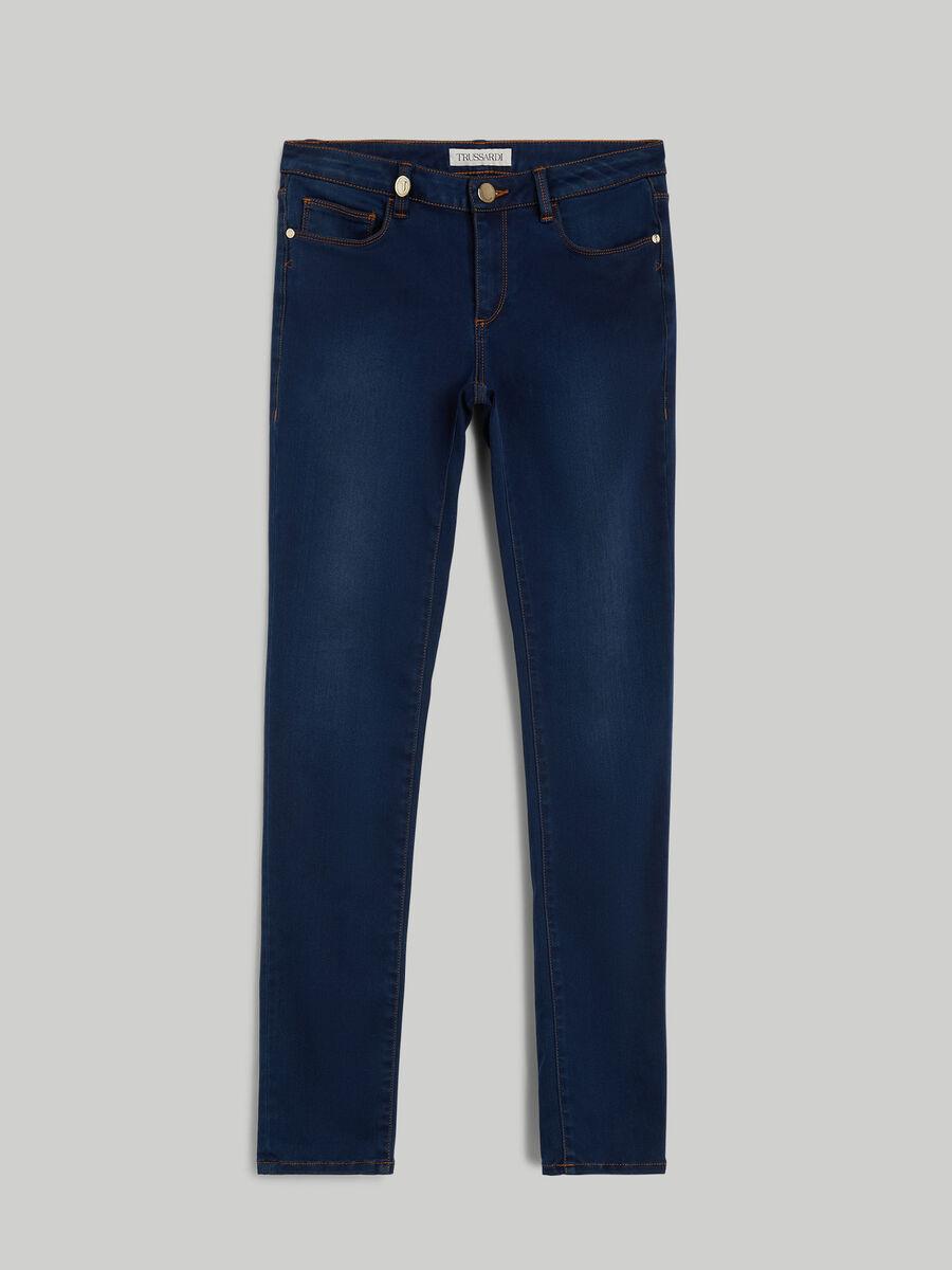 Regular-fit satin denim 260 jeans