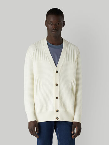 Oversized pure wool cardigan