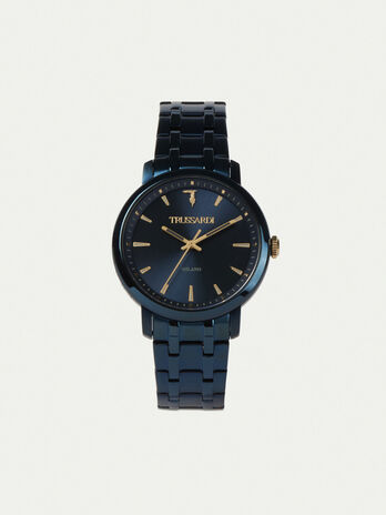 41 MM T-Couple watch with steel strap