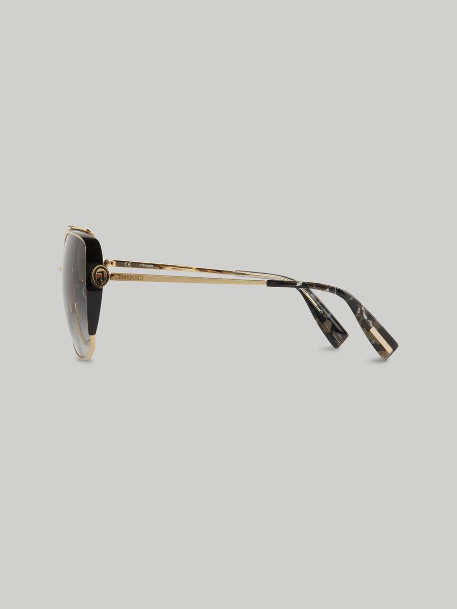 Occhiali oversize in metallo