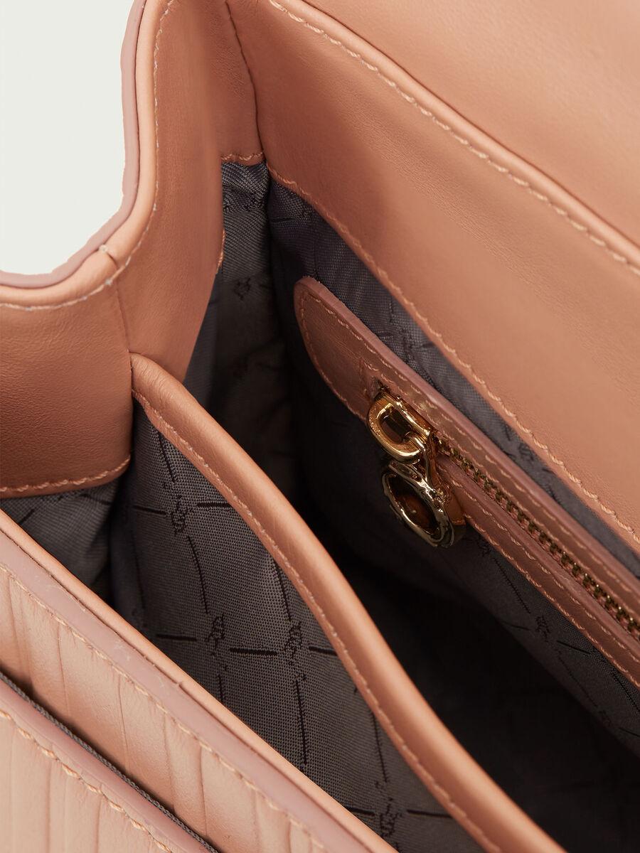 Sac Lovy Bag regular en cuir de veau Tresor raye