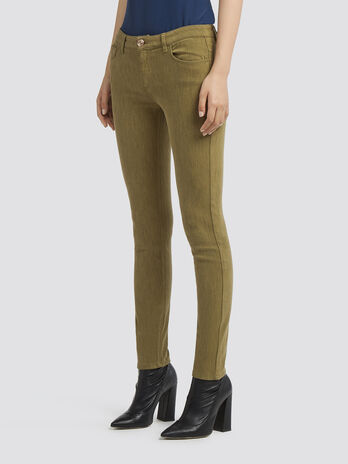 Solid colour super skinny jeans