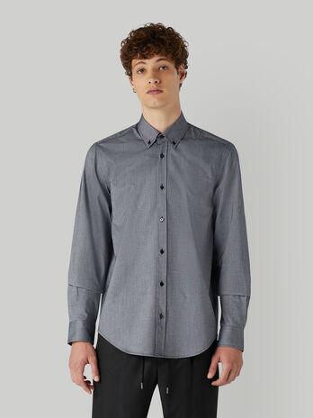 Camisa de corte ajustado de Oxford de algodon