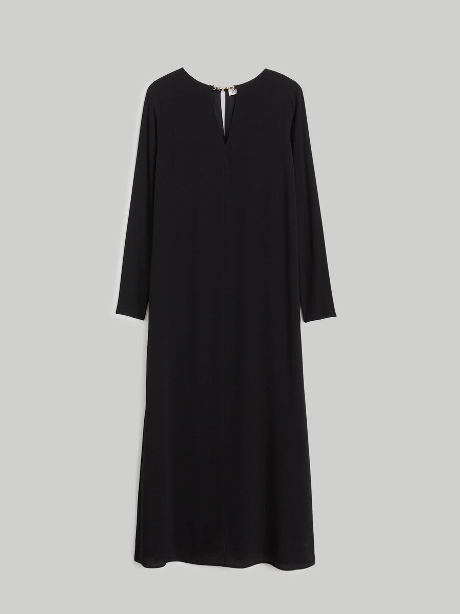 Vestido largo de crepe ligero