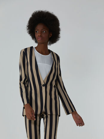 Viscose blazer with striped design