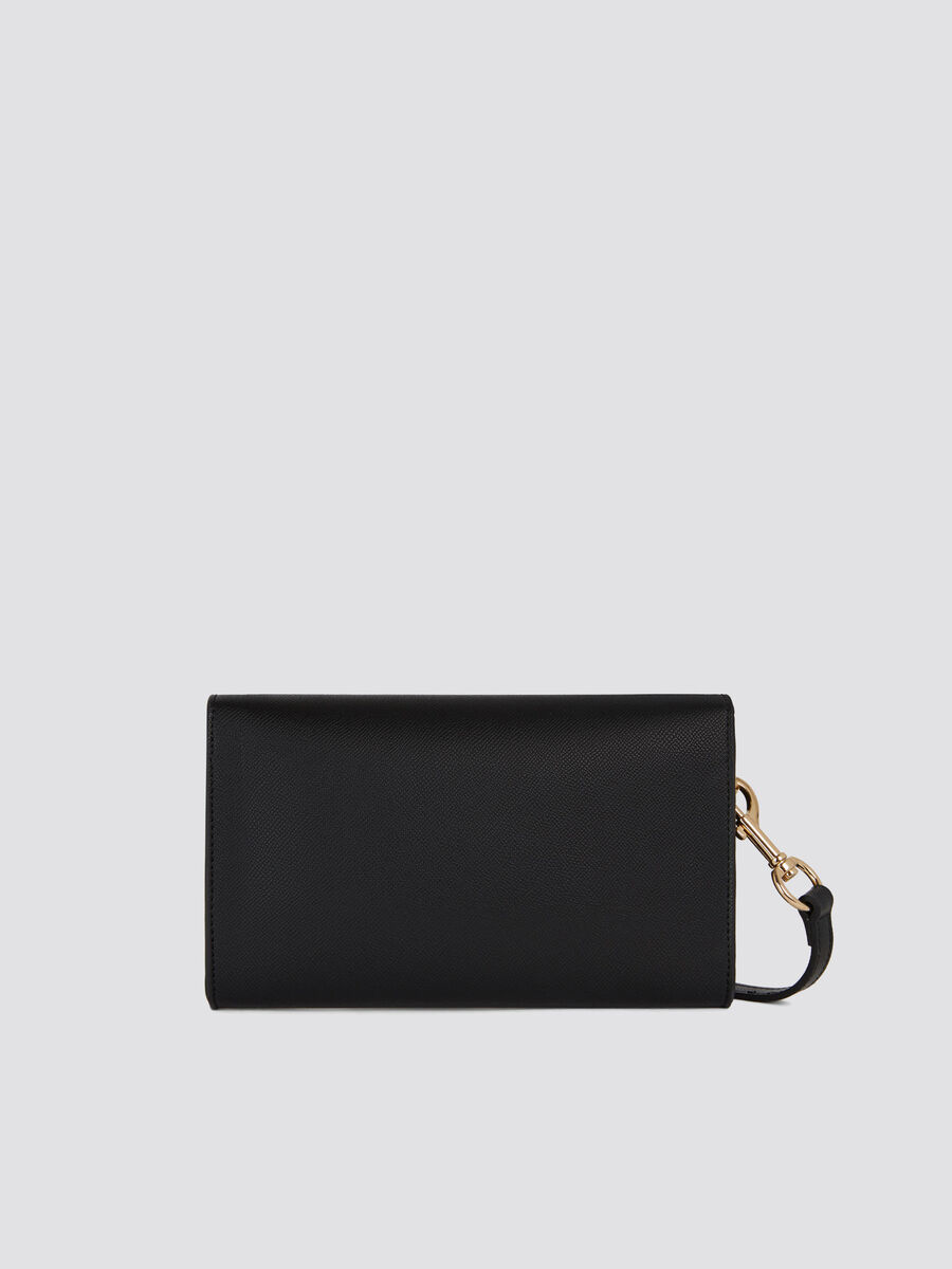 Light saffiano T-Easy mini clutch