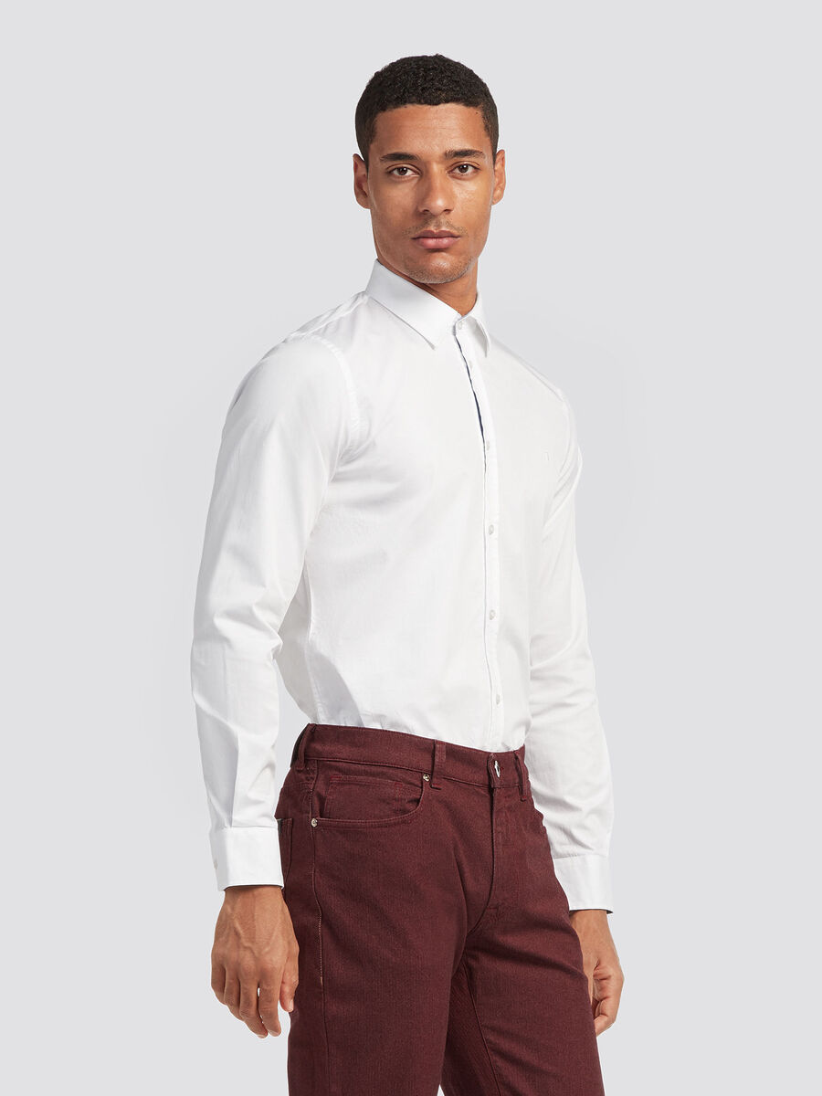 Stretch cotton twill shirt