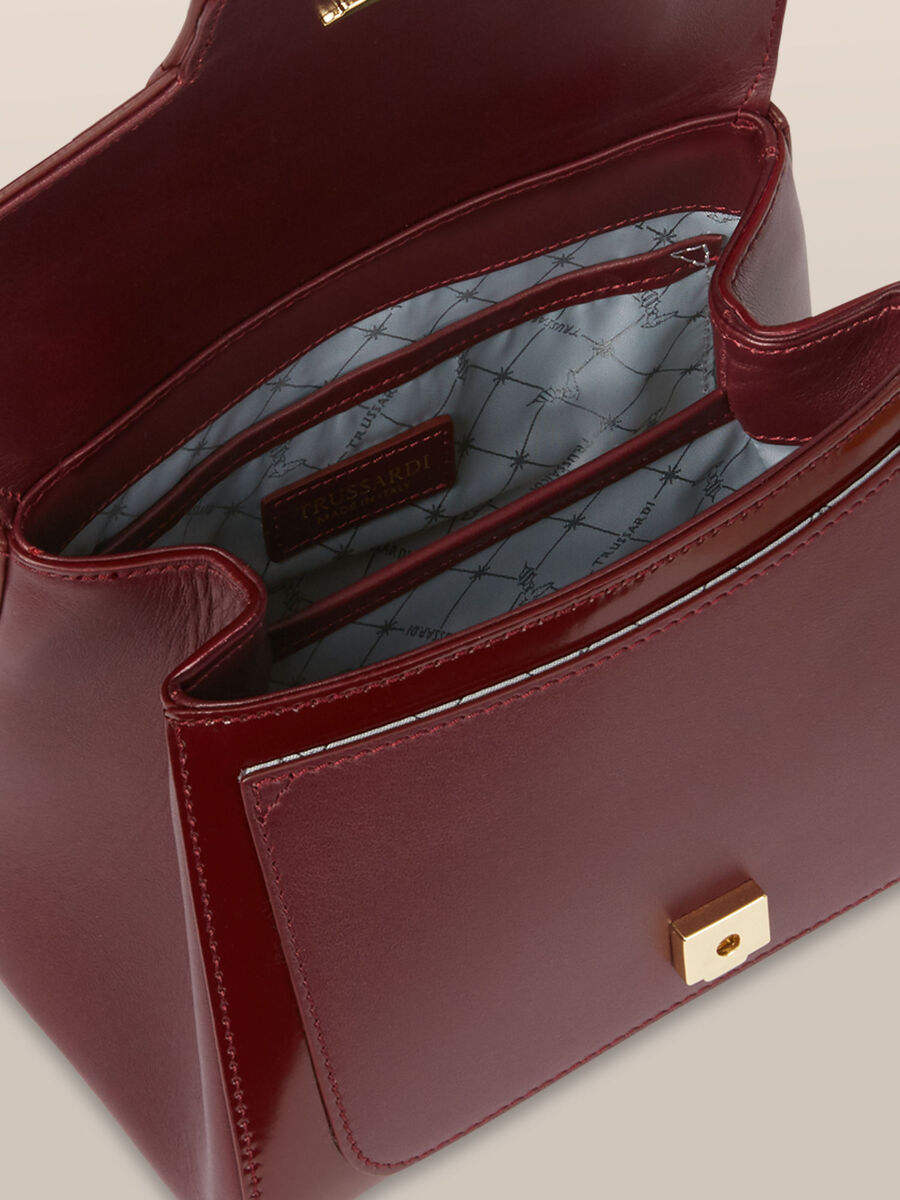 Mini New Lovy top handle bag in abraded leather