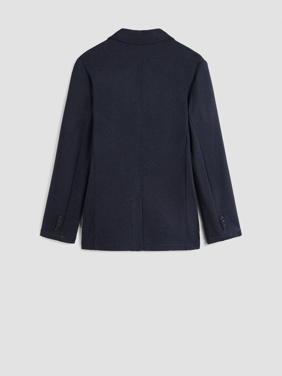 Slim fit jersey herringbone jacket