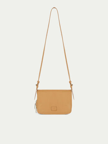 Small solid colour biker style Cacciatora bag with zip