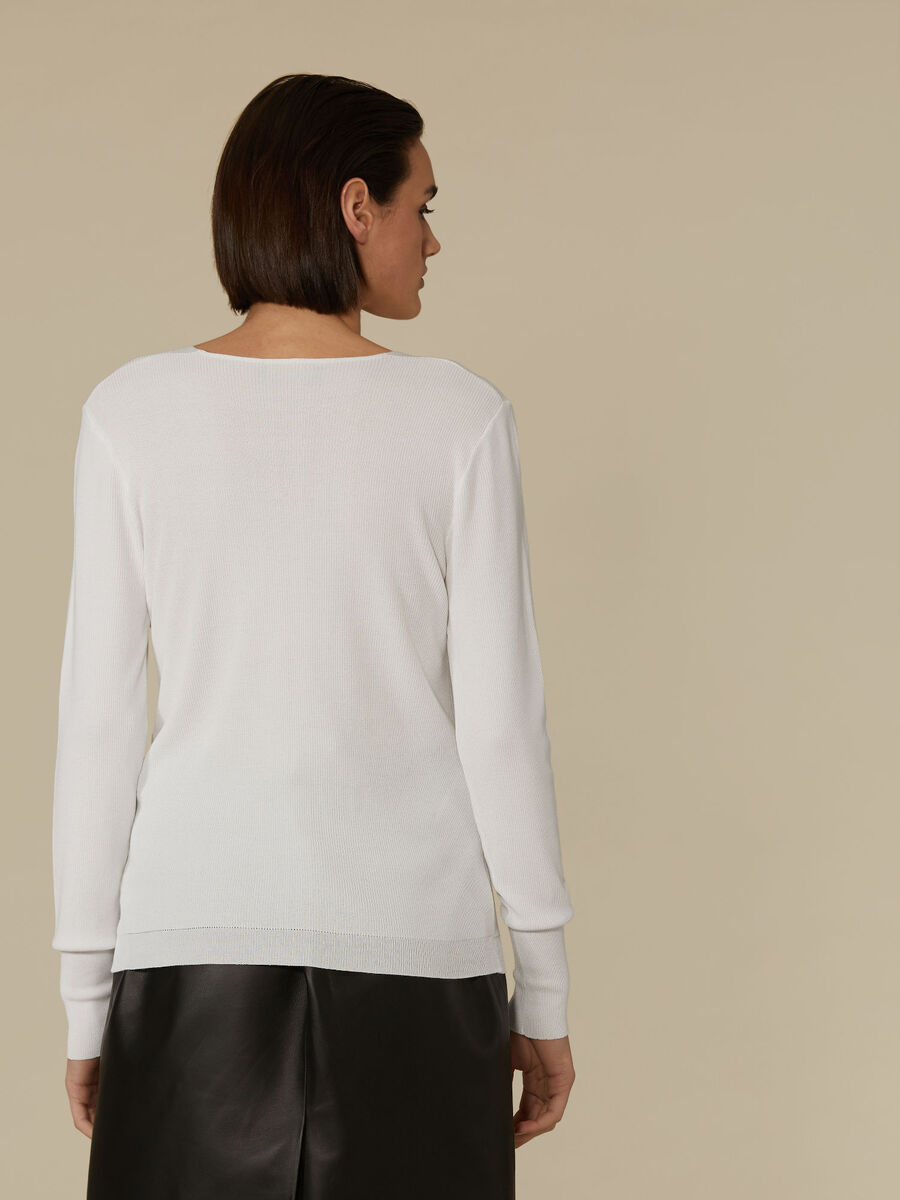 Pull coupe slim en viscose