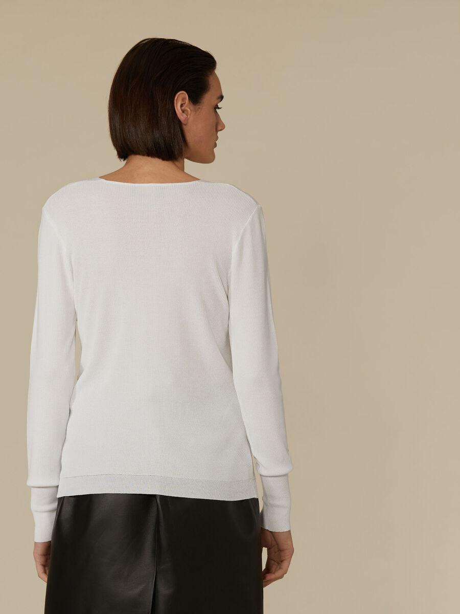 Pullover slim fit in viscosa