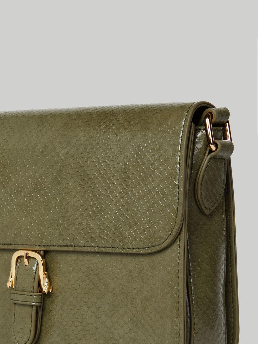 Large Victoria crossbody bag with python print