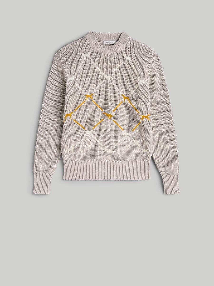 Regular-fit cotton crew-neck pullover
