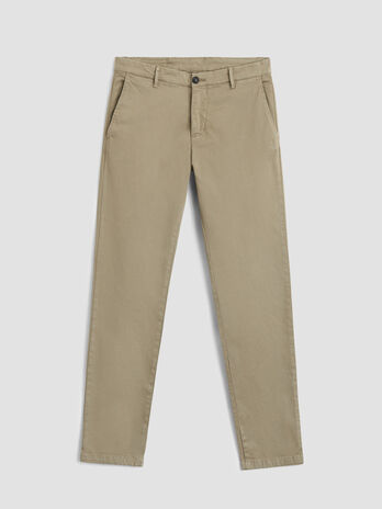 70s fit cotton sateen trousers