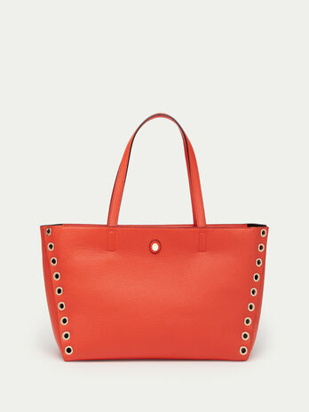 Medium Vele shopping bag in dollaro calfskin