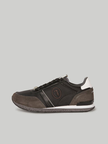 Nylon and suede Ferdy sneakers