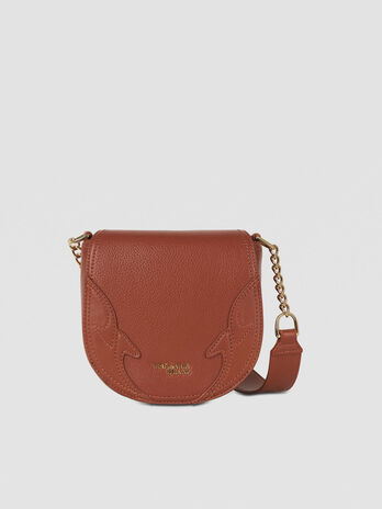 Small Deco Edge Cacciatora bag in faux leather