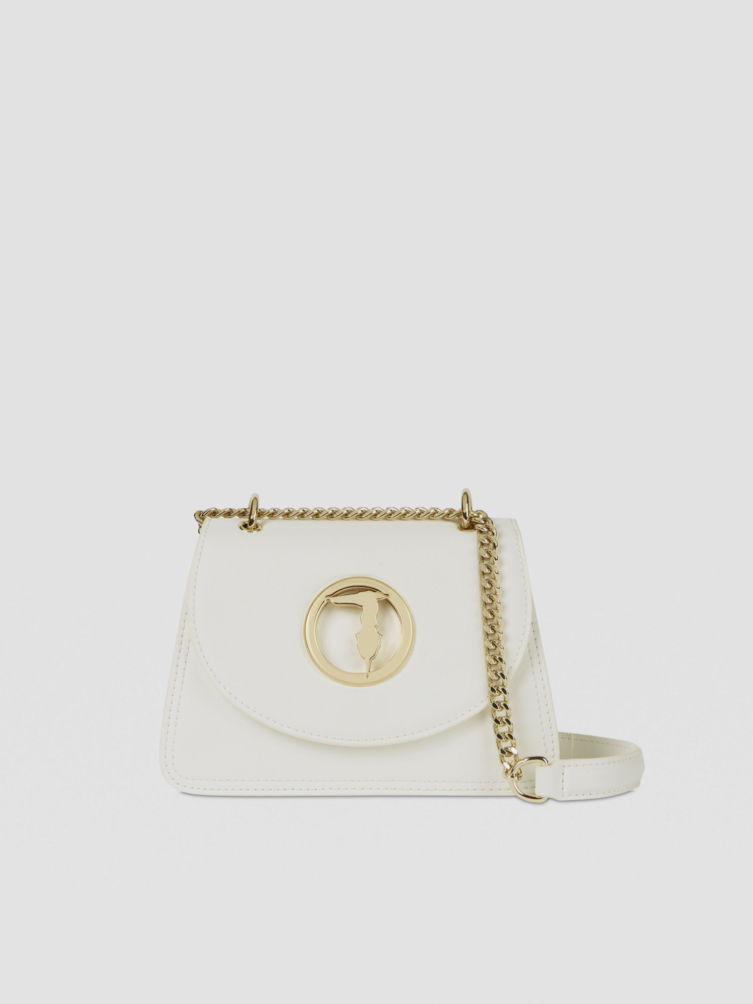 Trussardi White Leather Handbag