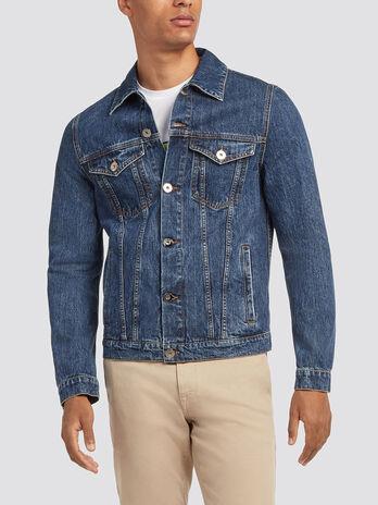 Giubbino di jeans lavaggio delavato