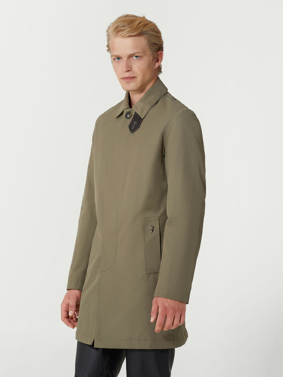 Regular fit cotton blend car coat