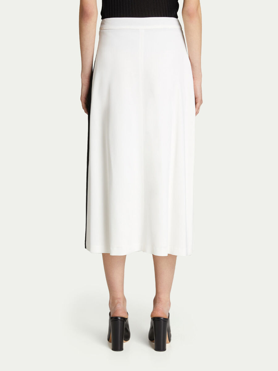 Long pleated skirt in pleated two tone viscose crepe
