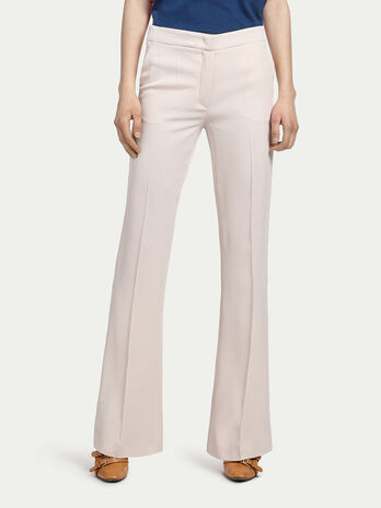Flared cady trousers