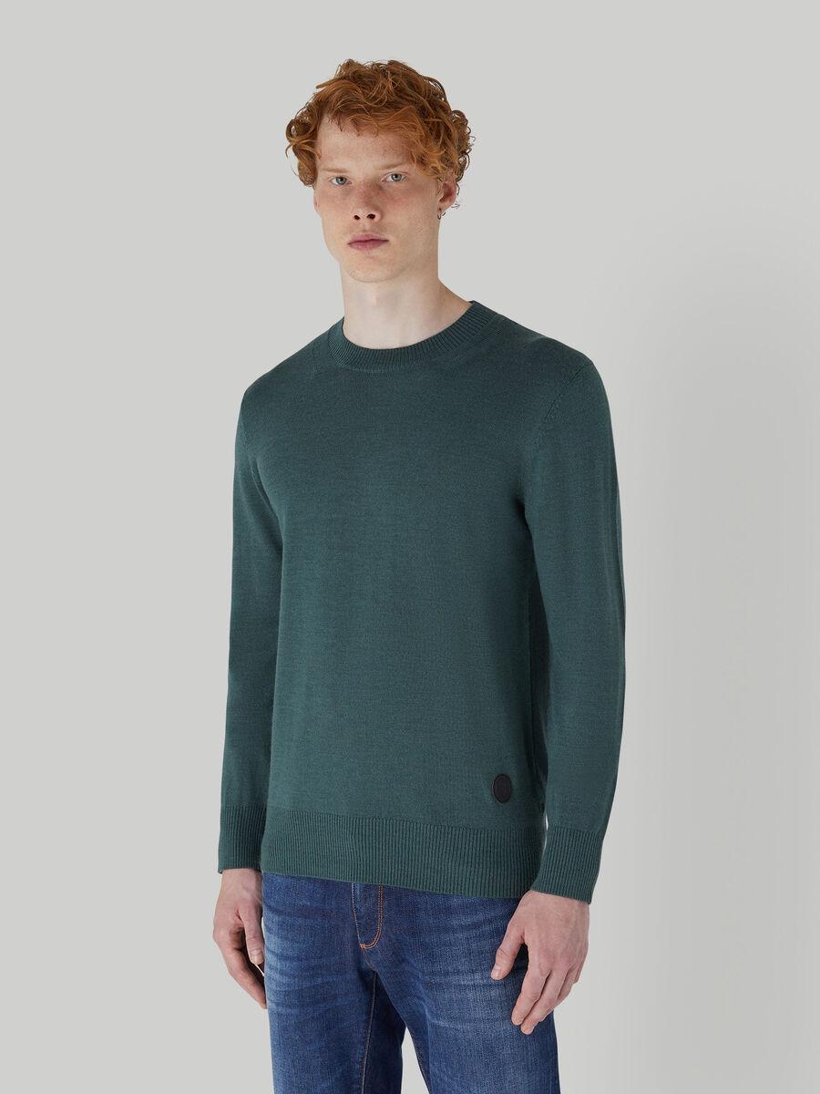 Regular-fit wool-blend pullover