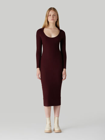 Wool-blend sheath dress