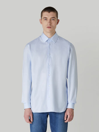 Regular-fit cotton Oxford shirt