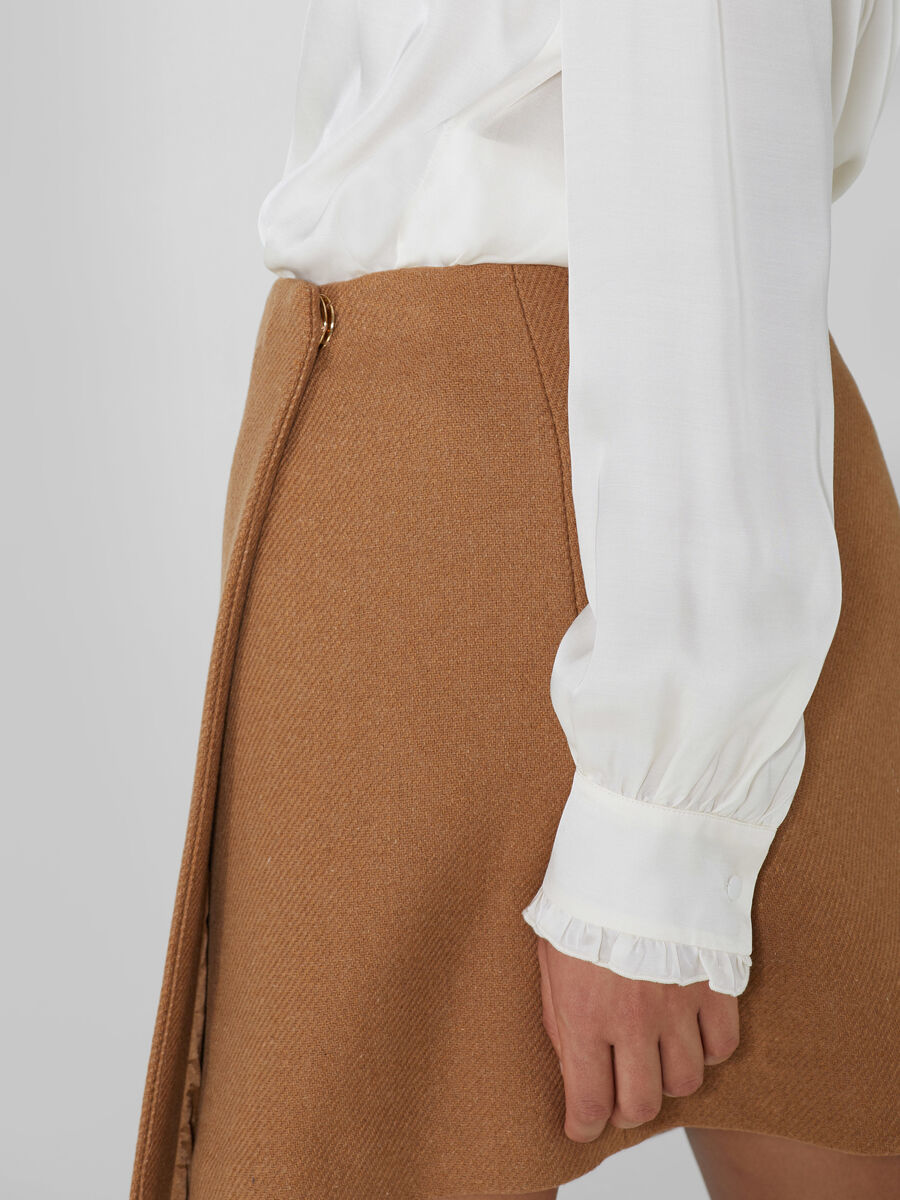 Woollen wrap skirt