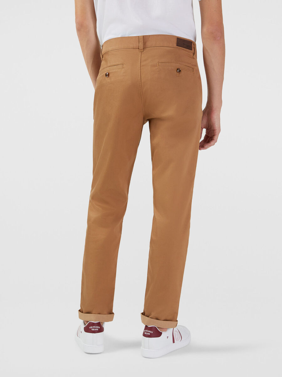 Stretch gabardine saltwater fit trousers
