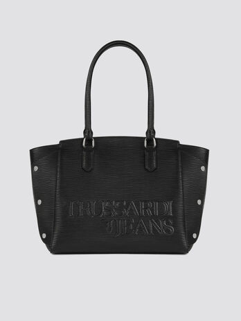Small Melly handbag in saffiano faux leather